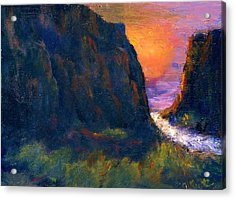 Acrylic Print featuring the painting Oak Creek Canyon by Gail Kirtz