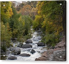 Acrylic Print featuring the photograph Oak Creek Canyon by Joshua House