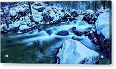Oak Creek Snow Acrylic Print by ABeautifulSky Photography