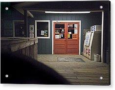 Oak Island Nc Pier Acrylic Print by Robert Ponzoni