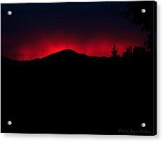 Oakrun Sunset 06 09 15 Acrylic Print by Joyce Dickens