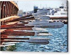 Oars Of An Ancient Trireme Acrylic Print by George Atsametakis