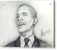 Obama 3 Acrylic Print by Collin A Clarke