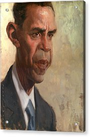 Obama Acrylic Print by Court Jones
