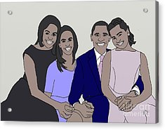 Obama Family Neutral Background Acrylic Print