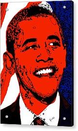 Acrylic Print featuring the digital art Obama Hope by Rabi Khan