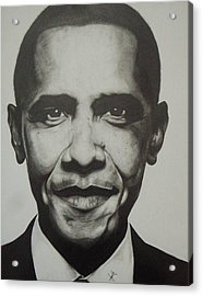 Obama Acrylic Print by Jane Nwagbo