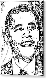 Acrylic Print featuring the digital art Obama by Rabi Khan