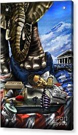 Obama Acrylic Print by Reggie Duffie