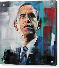 Obama Acrylic Print by Richard Day