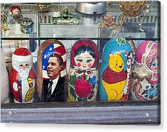 Obama Russian Doll 0183 Acrylic Print by Charles  Ridgway