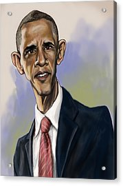 Obama Acrylic Print by Tyler Auman