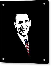Obama Acrylic Print by War Is Hell Store