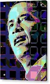 Obama2 Acrylic Print by Scott Davis