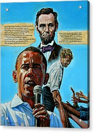 Obamas Heritage Acrylic Print by John Lautermilch