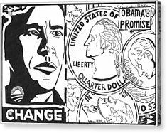 Obama's Promise Acrylic Print by Yonatan Frimer Maze Artist