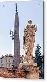 Obelisk In Rome Acrylic Print by Andrea Mazzocchetti