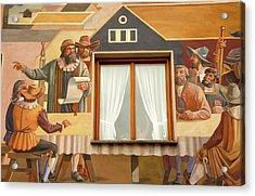 Acrylic Print featuring the photograph Oberammergau Frescoe by KG Thienemann