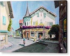 Oberammergau Street Acrylic Print by Sam Sidders