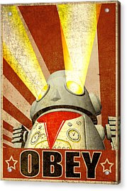 Obey Version 2 Acrylic Print by Michael Knight