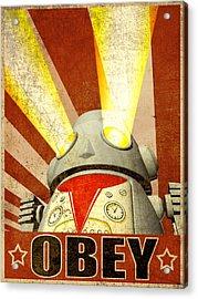 Obey Version 2 Acrylic Print