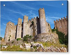 Obidos Castle Acrylic Print by Carlos Caetano