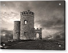 O'brien's Tower At The Cliffs Of Moher Ireland Acrylic Print by Pierre Leclerc Photography