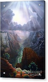 Observation Point Zion Acrylic Print
