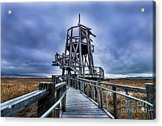 Observation Tower - Great Salt Lake Shorelands Preserve Acrylic Print by Gary Whitton
