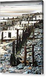 Obsolete Sea Defences At Llanfairfechan Acrylic Print