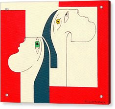 Obstinate Acrylic Print by Hildegarde Handsaeme