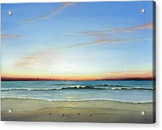 Acrylic Print featuring the painting Obx Sunrise by Albert Puskaric
