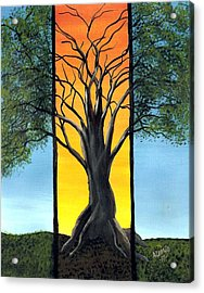 Acrylic Print featuring the painting Ocaso by Edwin Alverio