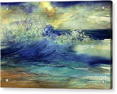 Acrylic Print featuring the painting Ocean by Allison Ashton