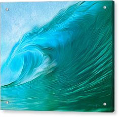 Ocean At Play Larger Version Acrylic Print
