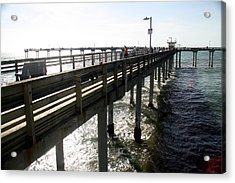 Acrylic Print featuring the photograph Ocean Beach Pier by Christopher Woods