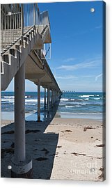 Ocean Beach Pier Stairs Acrylic Print