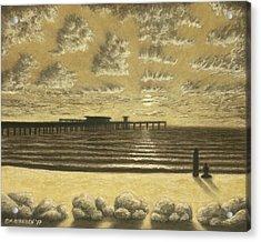 Ocean Beach Pier Sunset 01 Acrylic Print