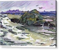 Ocean Beach Scene Acrylic Print