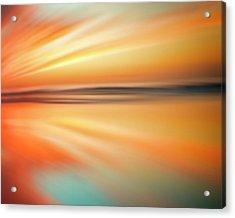 Acrylic Print featuring the photograph Ocean Beach Sunset Abstract by Gigi Ebert