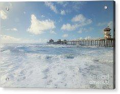 Ocean Blue At The Pier Acrylic Print