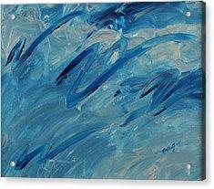 Ocean Blue Acrylic Print by Celesty  Claudio