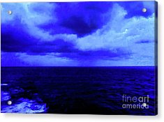Ocean Blue Digital Painting Acrylic Print by Robyn King