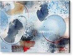 Ocean Blue Acrylic Print by Monte Toon