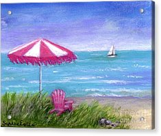 Acrylic Print featuring the painting Ocean Breeze by Sandra Estes