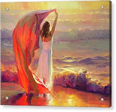Acrylic Print featuring the painting Ocean Breeze by Steve Henderson