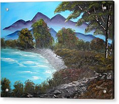 Ocean Breezes Acrylic Print by Sheldon Morgan