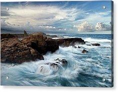 Ocean Brushes Acrylic Print by Kieran OConnor
