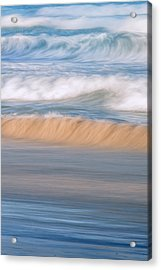 Ocean Caress Acrylic Print by Az Jackson