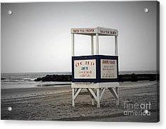 Ocean City Beach  Acrylic Print by Denise Pohl